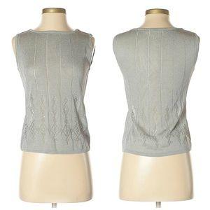 Escada Gray Diamond Design Shirt